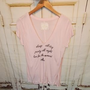 Abercrombie & Fitch Sleep all Day Pj Tee L